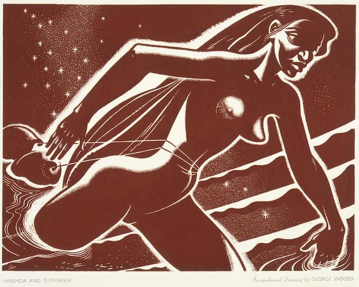 Woods, George, 1898-1963 :Hinemoa and Tutanekai. [1955]
