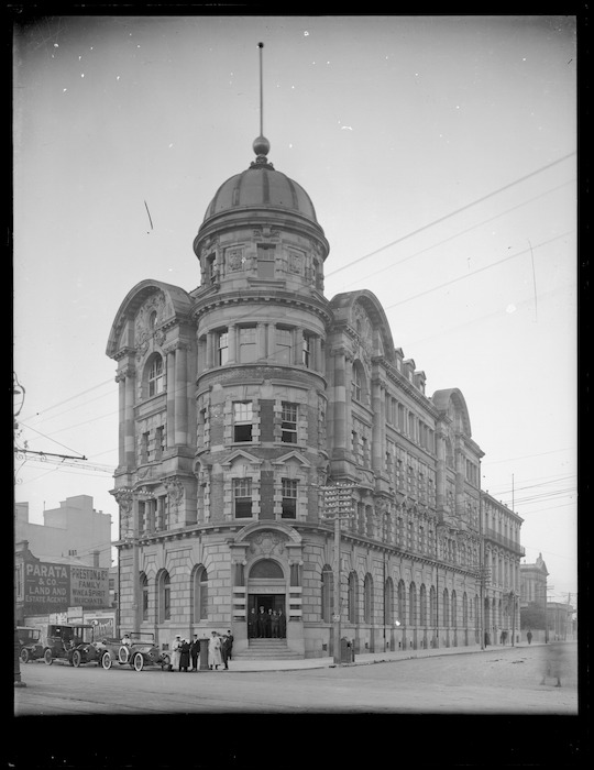 Public Trust building, on the corner of Lambton Quay and Stout Street, Wellington