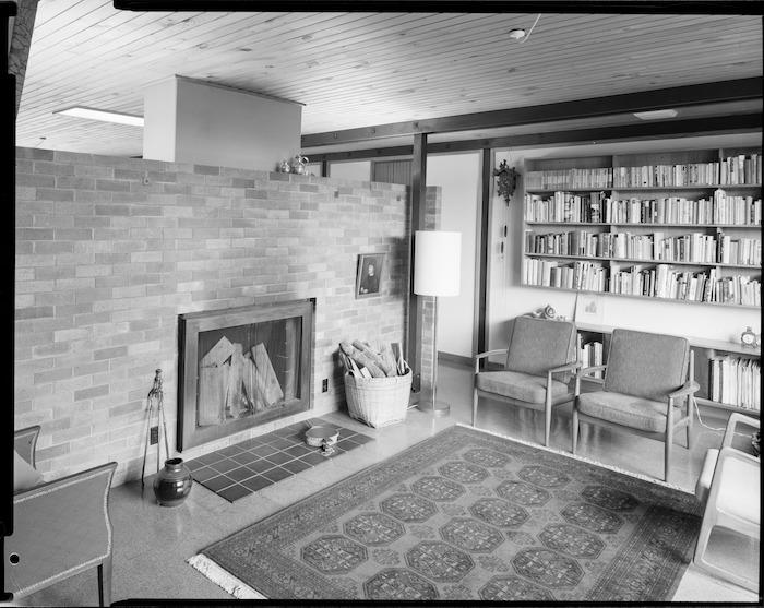 Living room of Alington house, 60 Homewood Crescent, Karori, Wellington