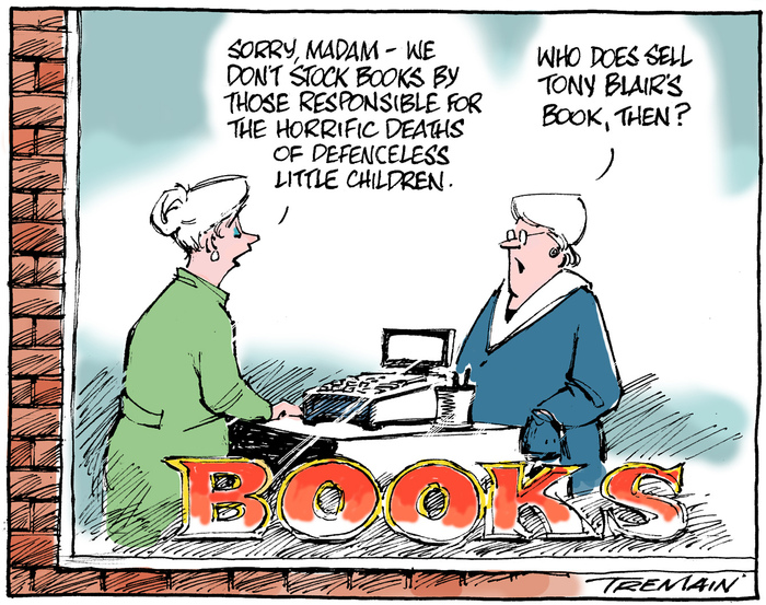 "Tremain, Garrick 1941- :""Sorry, madam - we don't stock books by those responsible for the horrific deaths of defenceless little children."" ... 1 July 2011"