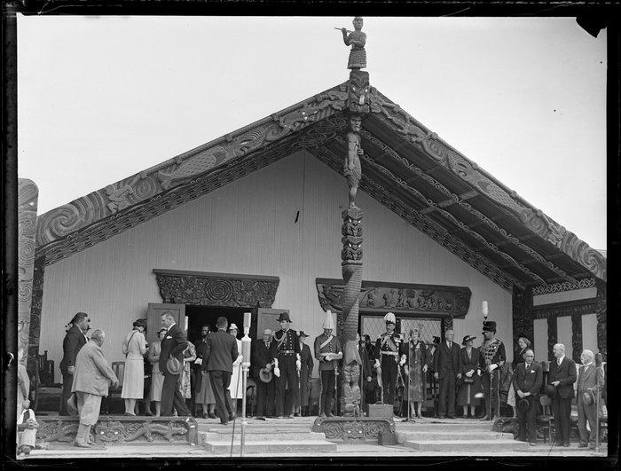 Government officials visiting Ngaruawahia marae