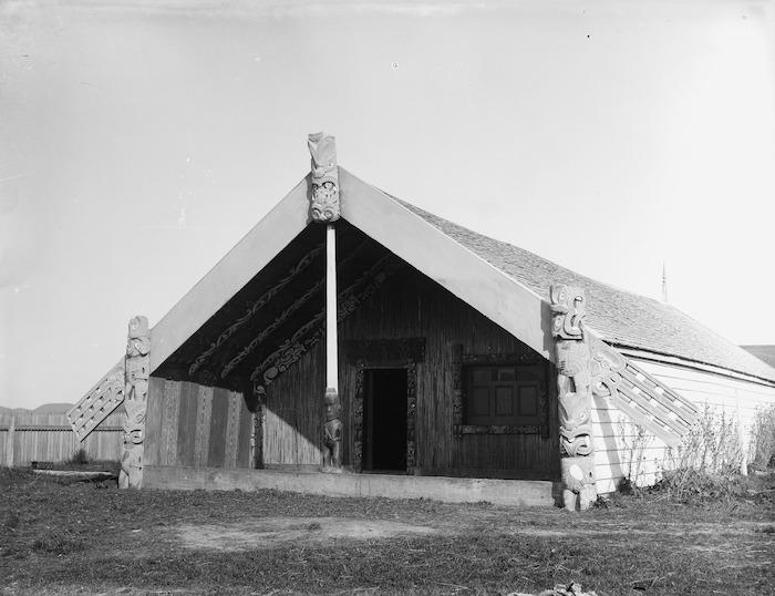 Kahuranaki, a carved house at Te Hauke, Hawke's Bay