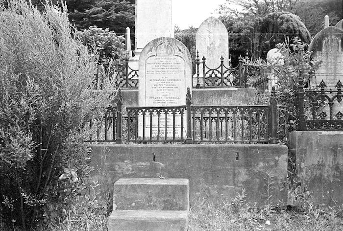 The Turnbull family grave, plot 98.L, Sydney Street Cemetery.