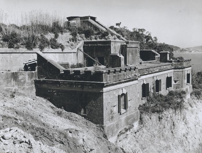 Creator unknown :Photograph of Fort Kelburne at Ngauranga, Wellington, at start of demolition
