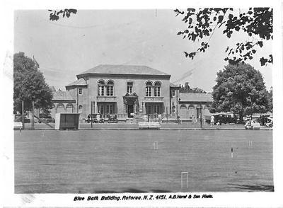 Blue Bath Building Postcard