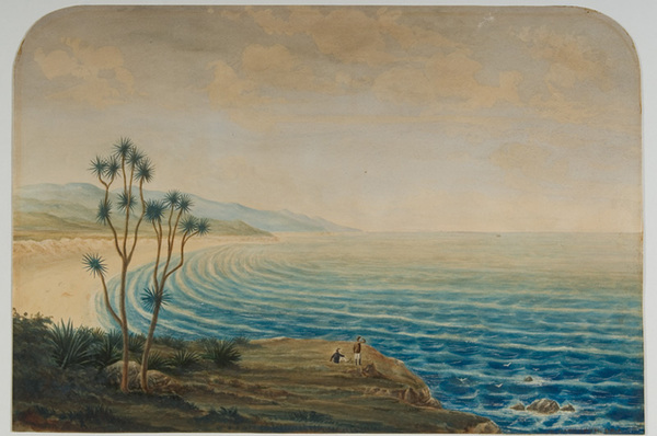 The Ocean Beach, Dunedin. ca 1864.