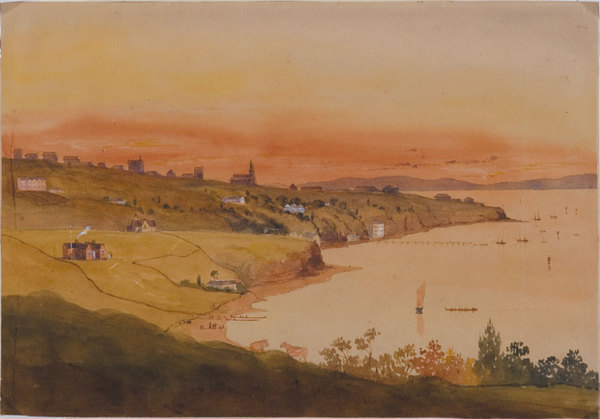 Auckland, from St George's Bay, 1856 (above Mr Blackett's house).