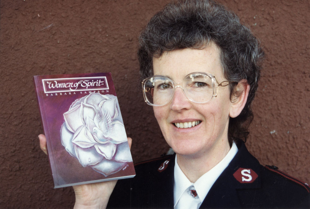 Salvation Army; book by Captain Barbara Sampson on lives of 28 Army women.