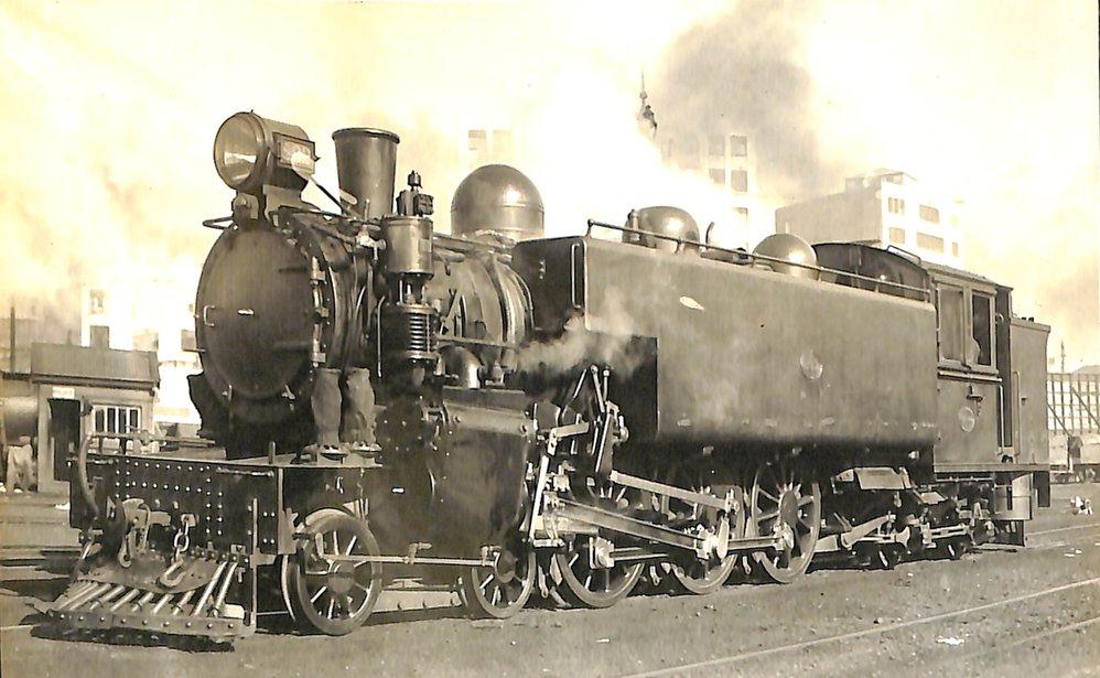 New Zealand railways locomotive, Wab 4-6-4 T series; number illegible