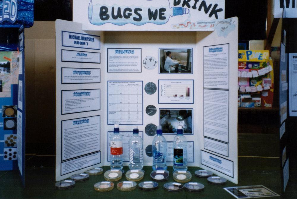 Maidstone Intermediate Year 8 science fair; Michael Dempster's winning entry