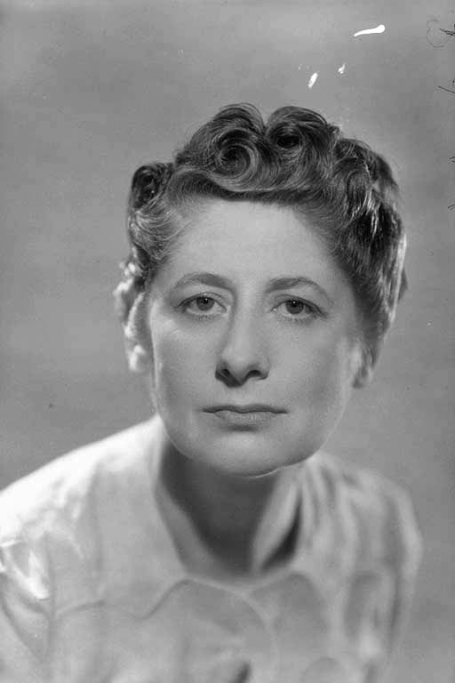 Head and shoulder portrait of Ngaio Marsh