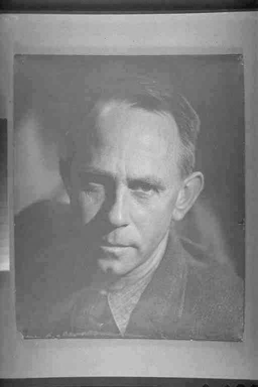 1/4 portrait of Frank Sargeson