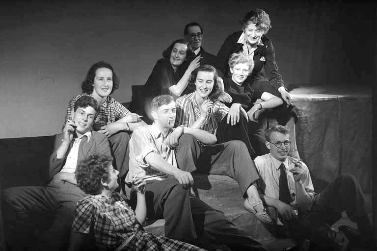 Ngaio Marsh and the cast of Macbeth 1947