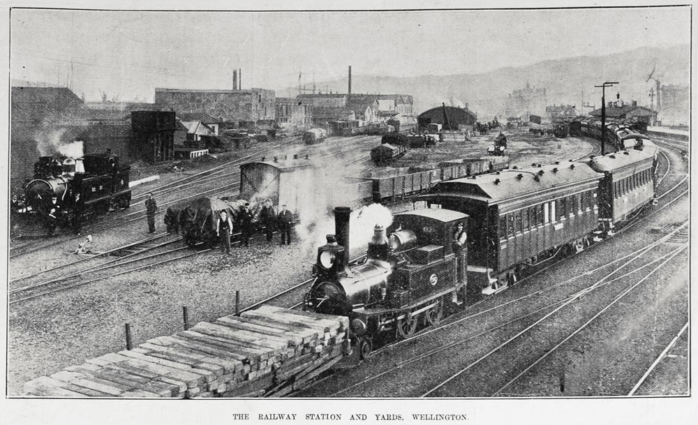THE RAILWAY STATION AND YARDS, WELLINGTON.