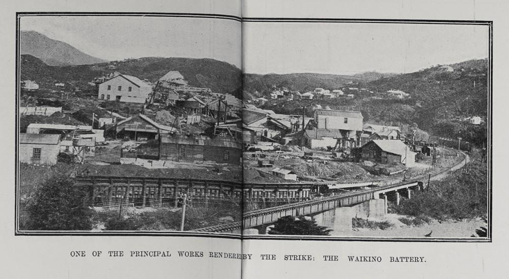 ONE OF THE PRINCIPAL WORKS RENDERED BY THE STRIKE: THE WAIKINO BATTERY.