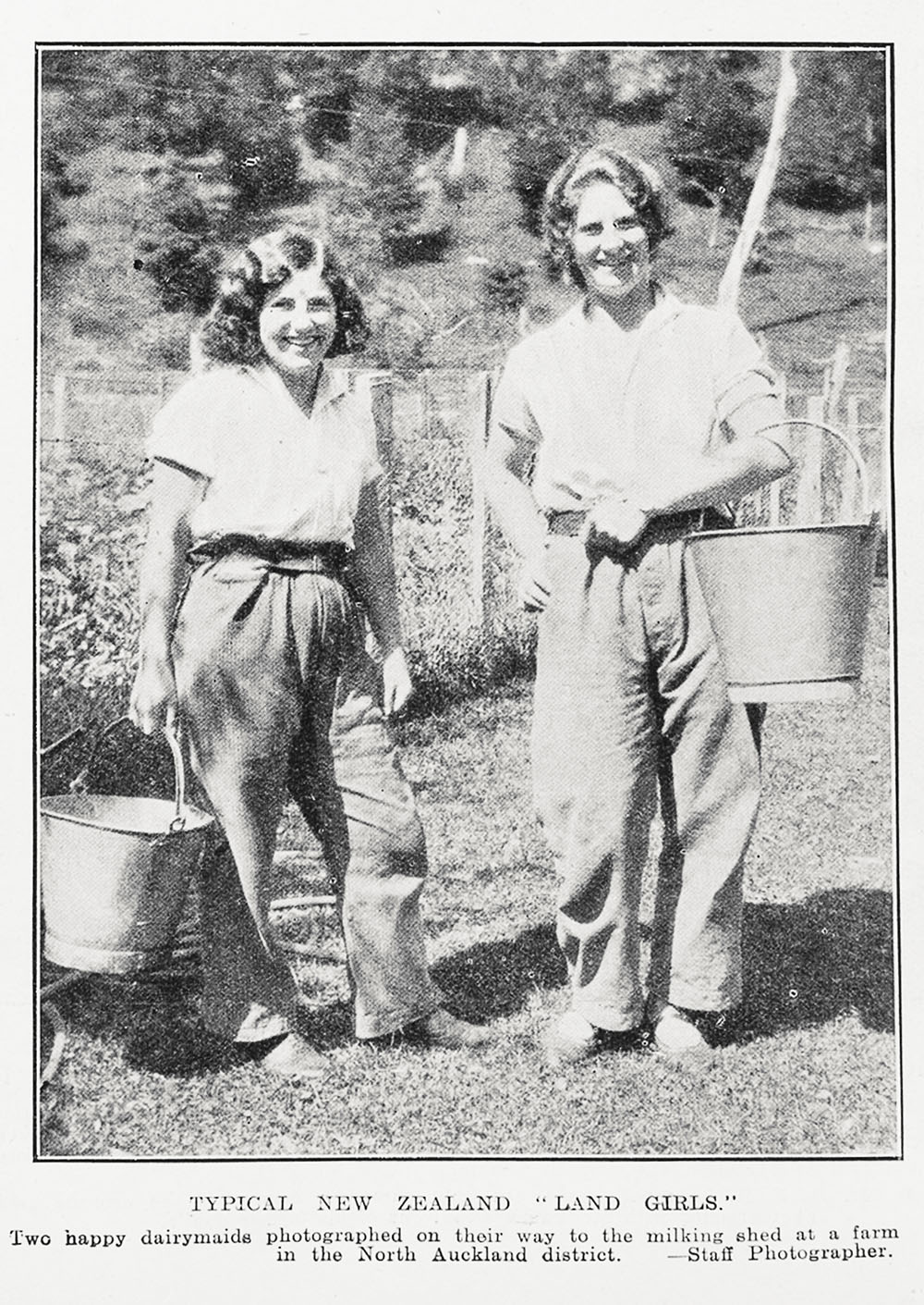 "TYPICAL NEW ZEALAND ""LAND GIRLS"""