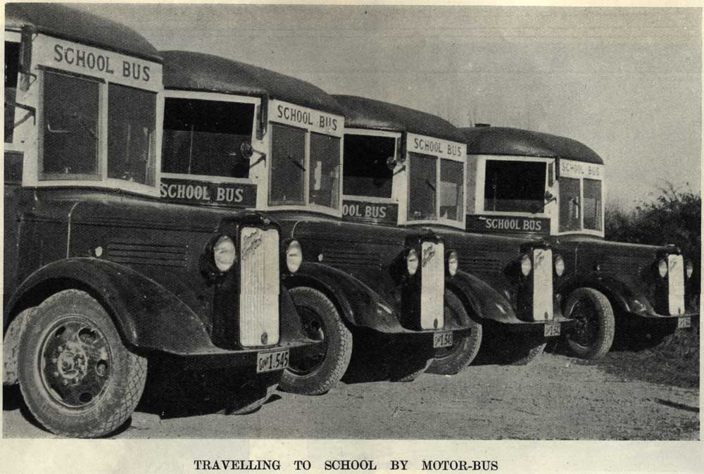 TRAVELLING TO SCHOOL BY MOTOR-BUS