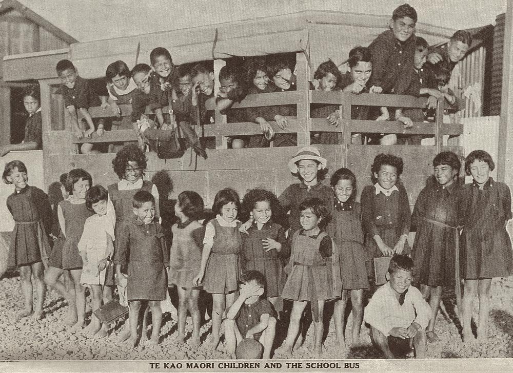 TE KAO MAORI CHILDREN AND THE SCHOOL BUS