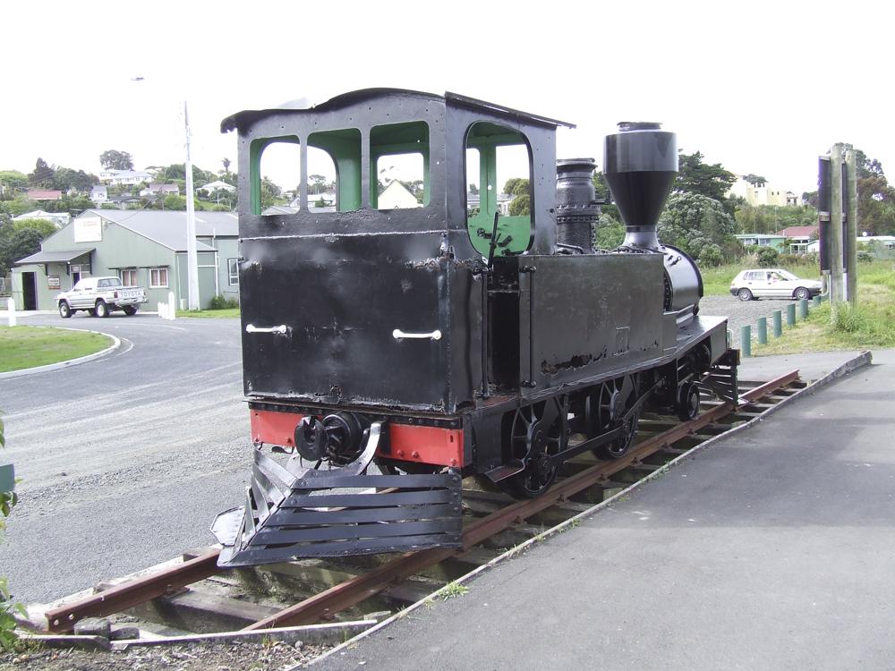 Steam locomotive at Helensville