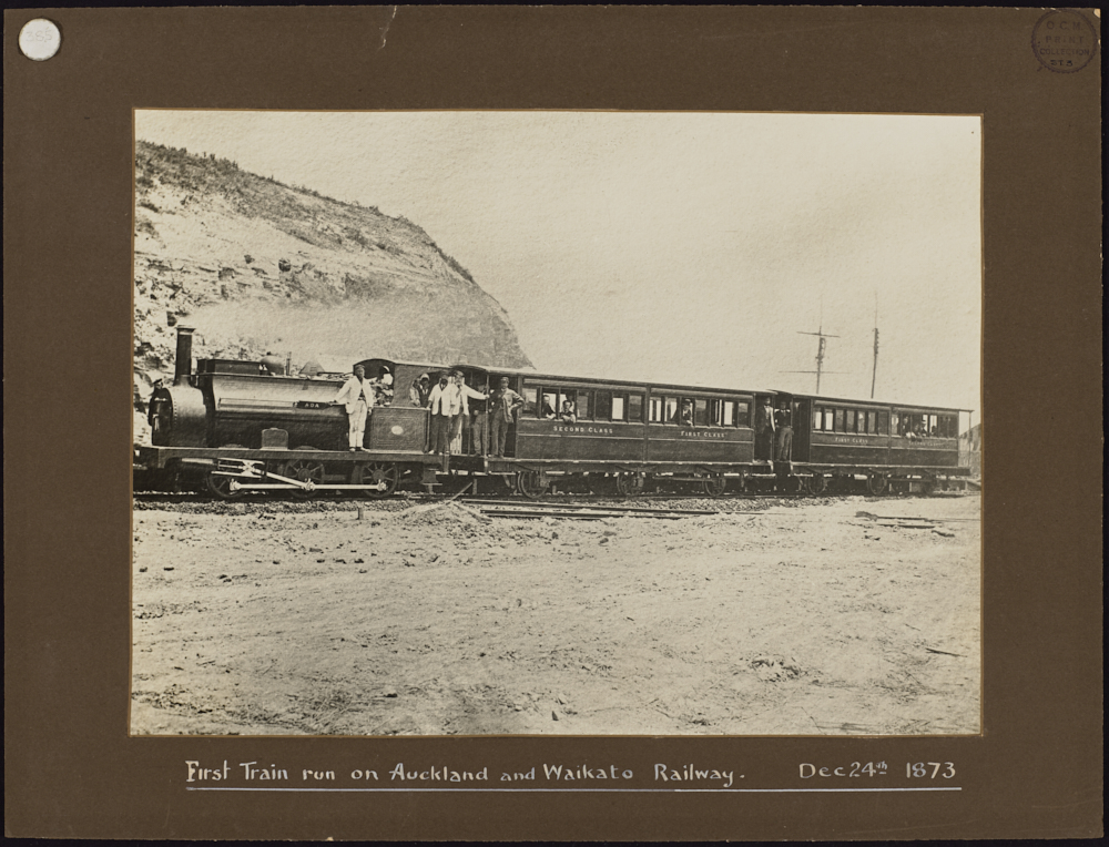 First train run on Auckland and Waikato Railway Dec 24th 1873