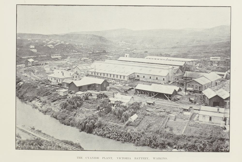 The cyanide plant, Victoria Battery, Waikino.