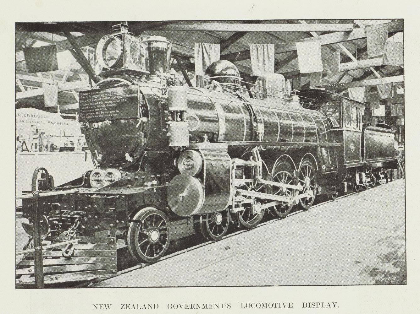 New Zealand Government's locomotive display