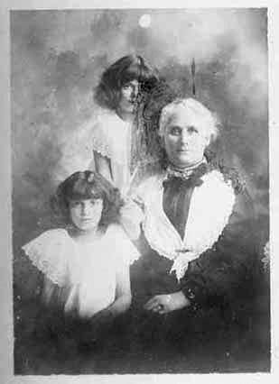 Copy of photograph of two girls (one is scratched out on....