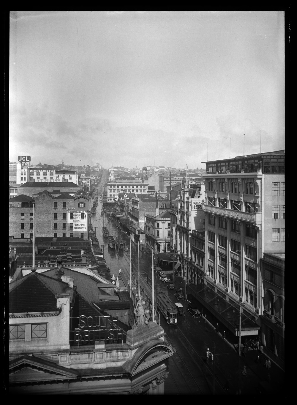 Looking south from Victoria Arcade showing Queen Street with....