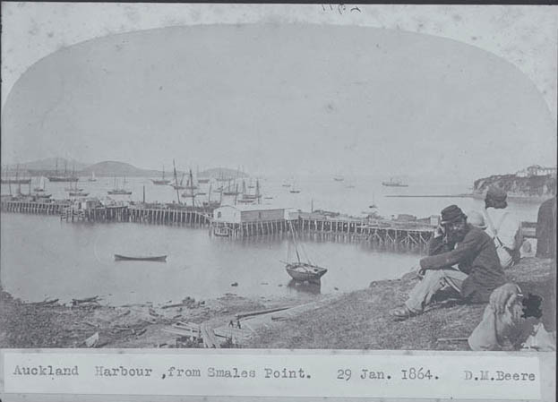 Looking east from Smales Point showing Queen Street Wharf....