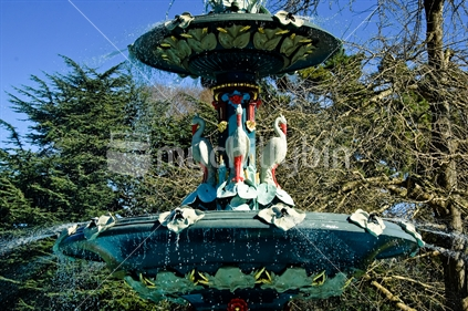 Peacock Fountain, Botanical Gardens, Christchurch, South Island, New Zealand