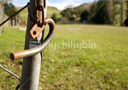 Farm gate latch, unhooked