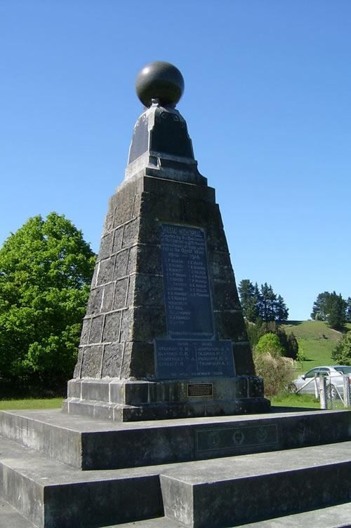 Waiau war memorial