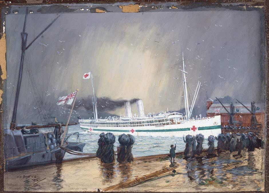 Maheno sailing from Wellington painting
