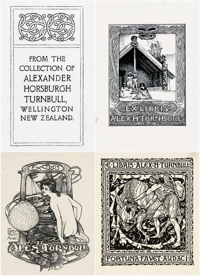 Alexander Turnbull's bookplates