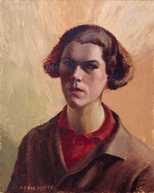 Anna Lois White self portrait
