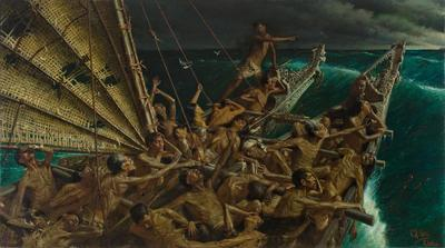 The Arrival of the Maoris in New Zealand