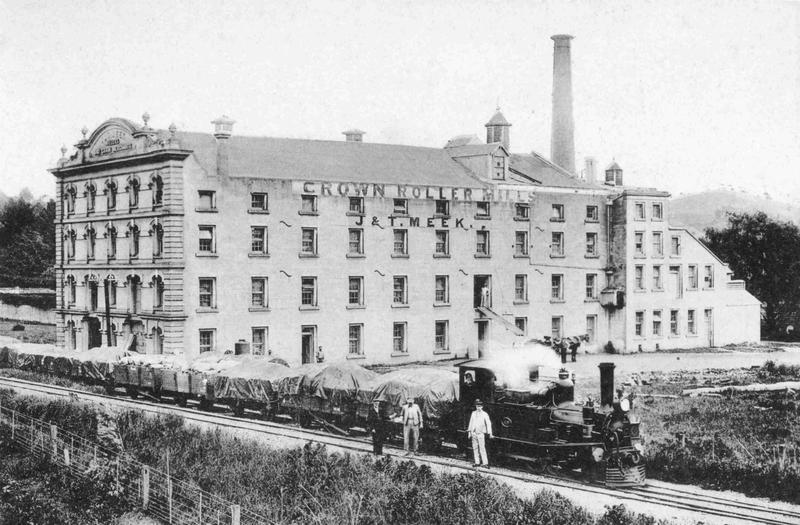 Meek's Mill & small locomotive train