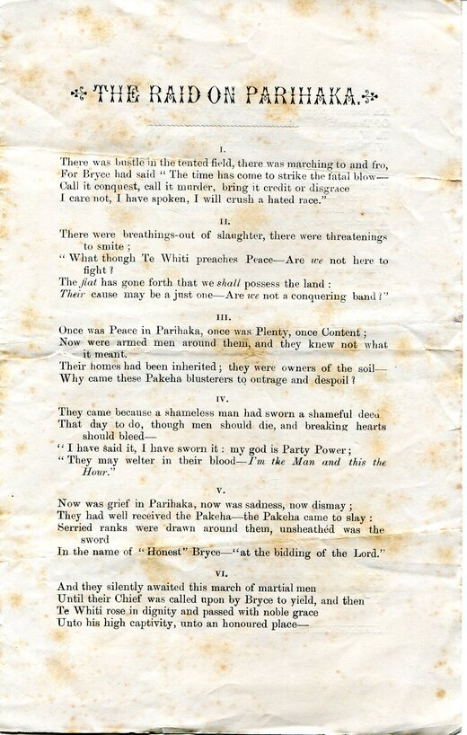 The Raid on Parihaka, (Page 2/3) by Samuel Croumbie-Brown, 6 Nov 1881