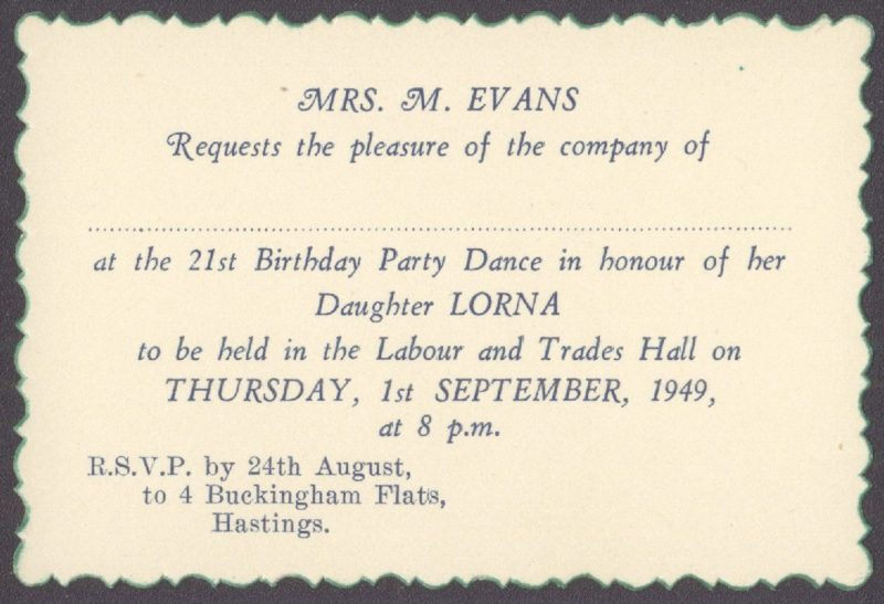 21st Birthday 1949