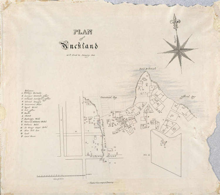 Plan of Auckland as it stood in January 1842.