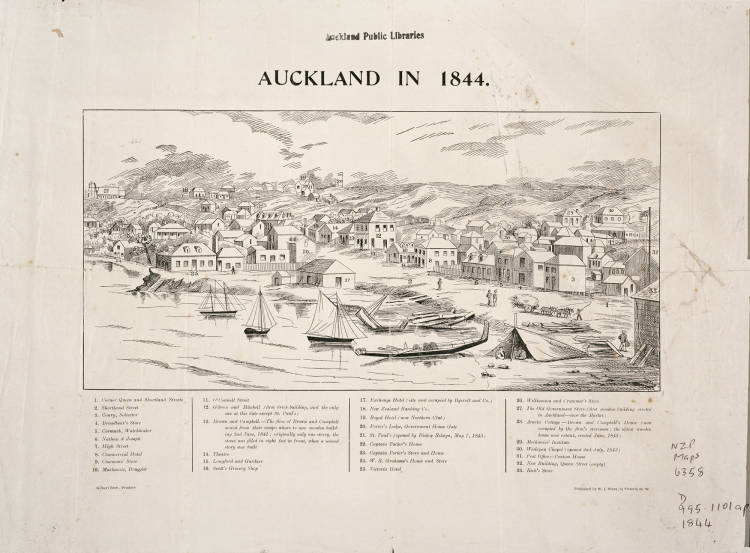 Auckland in 1844