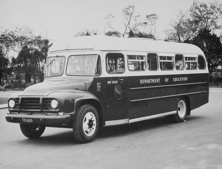 New school bus, Mt Wellington, 1965.
