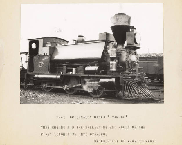 The 'Ivanhoe', the first train into Otahuhu