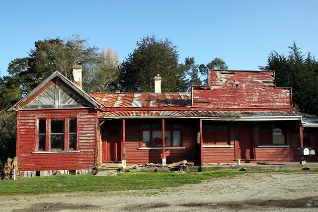 Old house and shop, Glenham, Southland, New Zealand.