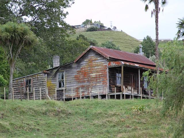 Old house, Piriaka, New Zealand