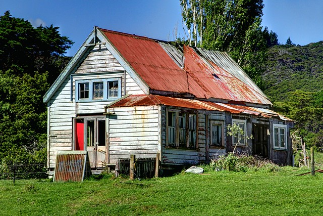 Old school, Manaia, Coromandel, New Zealand