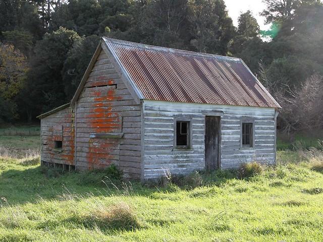 Old house, Mt Bruce, Wairarapa, New Zealand