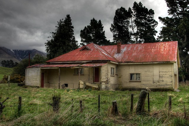 Old house, Mount Hutt, Canterbury, New Zealand