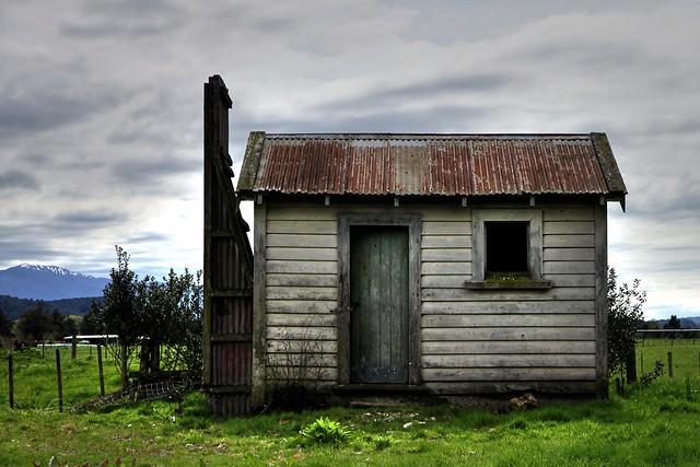 Old house, Totara Flat, West Coast, New Zealand