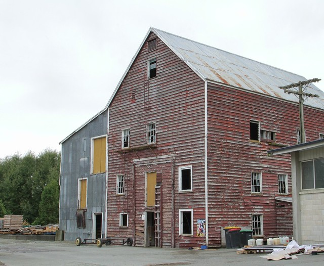 Old abandoned flour mill, Winchester, Canterbury, NZ